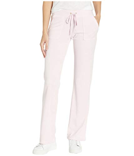 Juicy Couture Women's Del Rey Microterry Pants Peekaboo Large 33