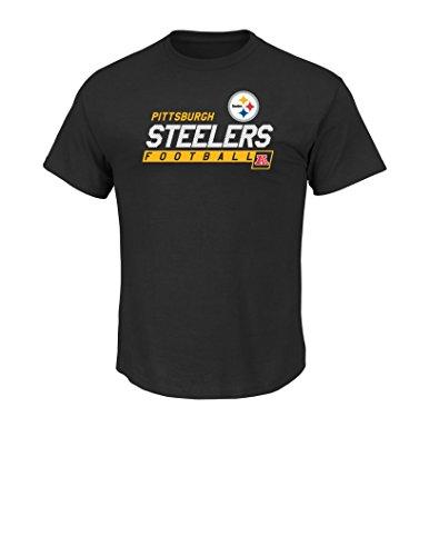 NFL Pittsburgh Steelers Men's Passing Game Short Sleeve Basic Tee, XX-Large, Black