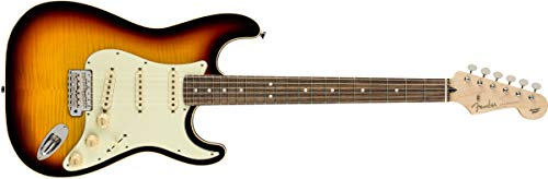 (Fender Limited Edition Aerodyne Classic Flame Maple Top Stratocaster Electric Guitar (3-Color Sunburst))
