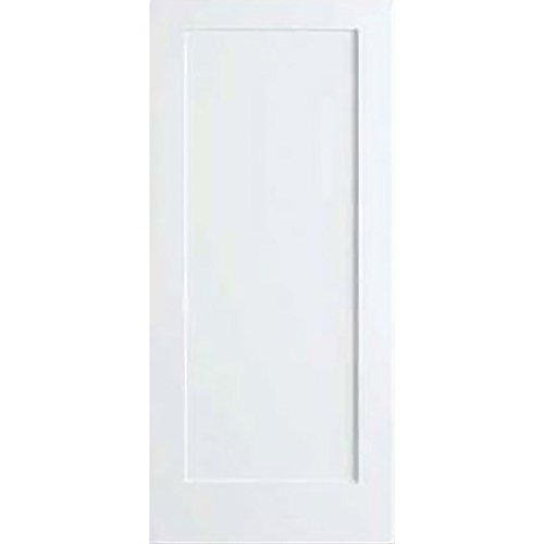 1-Panel Door, White Primed Shaker 80 in. x 1-3/8 in. (80x32) (Panel Door White Flat)