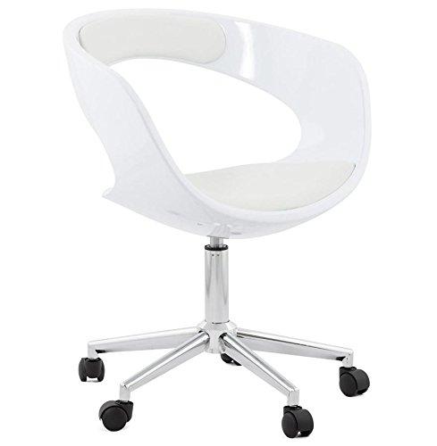 Kokoon OC00240WHWH Felix Silla de Oficina de diseño de PVC ...