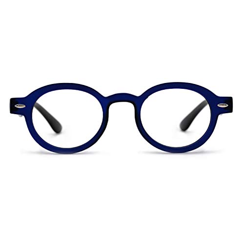 OCCI CHIARI Reading Glasses Readers Women Men Prescription Eyeglasses Computer Eyewear Round(100 125 150 175 200 225 250 275 300 350) Blue 2.00 ()