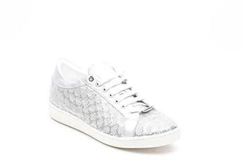 Keys sneakers con paillettes argento