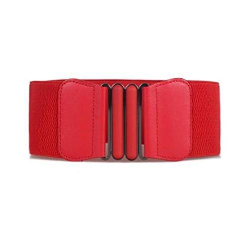 UNKE Vintage Buckle Wide Stretch Elastic Corset Waist Belt Waistband For Women by UNKE