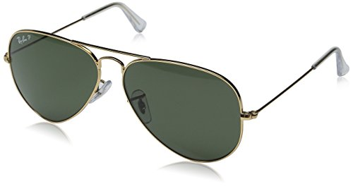 RAY BAN 3026 Arista Gold Green Glass (NOT POLARIZED) 62mm - Aviator 3026 Rayban