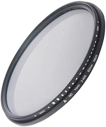 CAOMING 82mm ND Fader Neutral Density Adjustable Variable Filter ND 2 to ND 400 Filter Durable