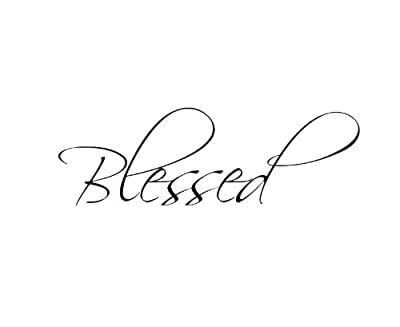 Dailinming PVC Wall Stickers Wall Decal Art Sticker Quote Vinyl Removable Decoration Blessed Motivational 61X20CM