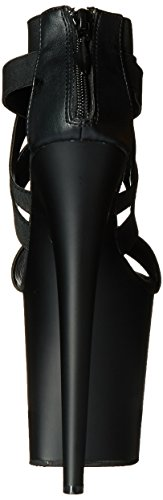 Black Sandal Women's Matte Platform Elasticated Black m Pleaser Flam869 b Band zUXpq