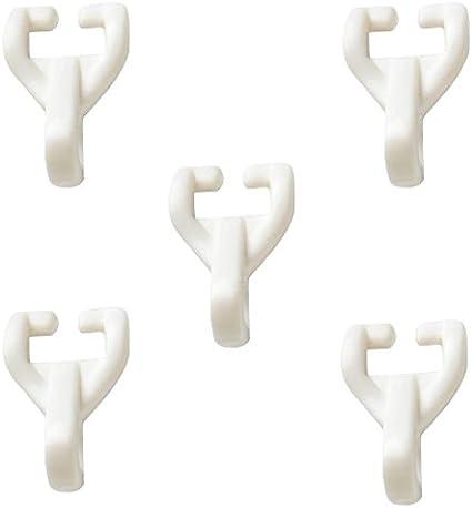 Pack of 20 Bulk Hardware BH03626 Ganci Scorrevoli in Nylon per Tende su Binario a Guida Twinglide Bianco Set di 20 Pezzi