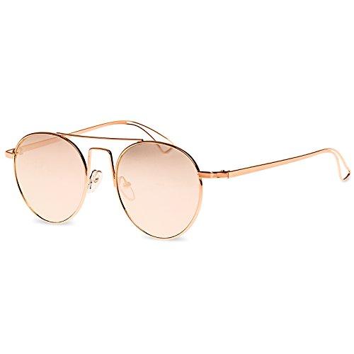 étui Miroir Or hippie CASPAR inclus de Doré rétro SG041 Lunettes Rosé pilote soleil 0SATB
