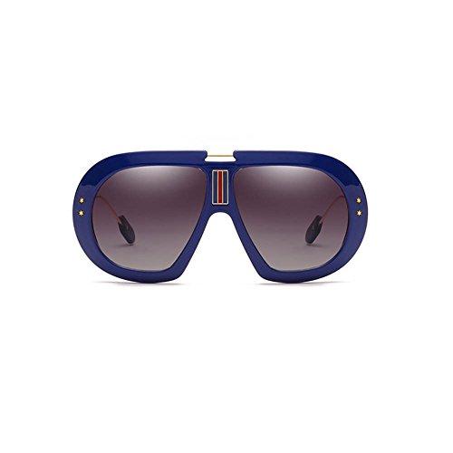 RPFU Vintage avec Élégant Carré Blue Cadre Lunettes Soleil Lunettes 100 GradientGray Uv400 De Grand D rqTw8rAR