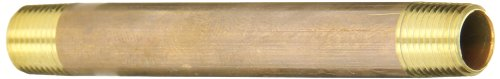 Anderson Pipe (Anderson Metals 38300 Lead Free Red Brass Pipe Fitting, Nipple, 1/8