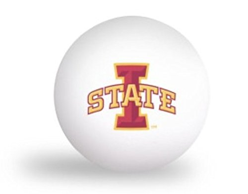 Laser Magic NCAA Iowa State University Cyclones 6 pack Ping Pong Balls by Laser Magic