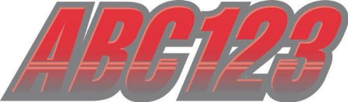 """STIFFIE Techtron Red/Silver 3"""" Alpha-Numeric Registration Identification Numbers Stickers Decals for Boats & Personal Watercraft"""