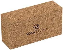 Brique de Yoga antibact/érienne avec Bords biseaut/és Accessoire dexercice Yoga Studio Brique en li/ège Standard 23 x 12 x 7,5 cm