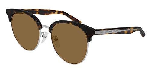 Balenciaga BB0020SK Sunglasses 002 Havana/Brown Lens 55 mm