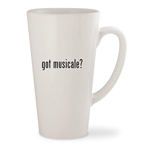 got musicale? - White 17oz Ceramic Latte Mug Cup (Para Teclados Ni??os Musicales)