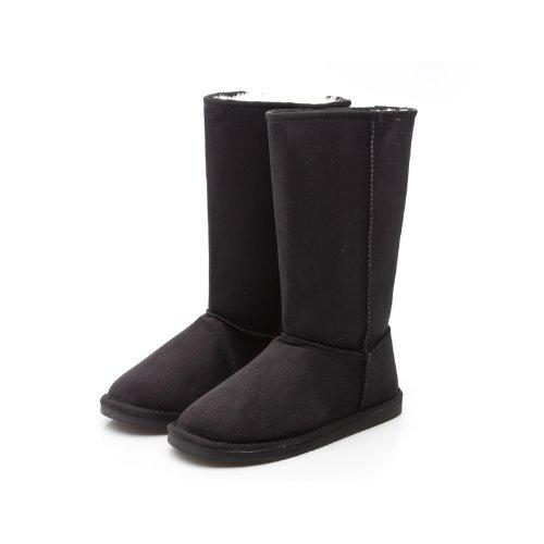 Reneeze ROSE-1 Women Mid-Calf Snow Boot - BLACK-6