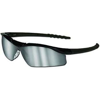 MCR Safety SH130AF Shock Safety Glasses with Chameleon//Clear Chrome Frame and Clear Anti-Fog Lens