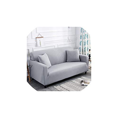 Kaka-home Plain Elastic Stretch Sofa Covers Polyester Spandex Fabric Sofa Slipcover Cover Single/Two/Three/Four-,5-mm,Single 1pcs