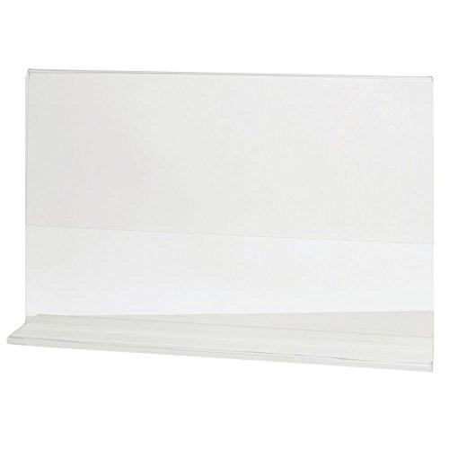 HUBERT Acrylic T-Base Sign Holder Clear Acrylic Horizontal - 11'' L x 7'' H by Hubert