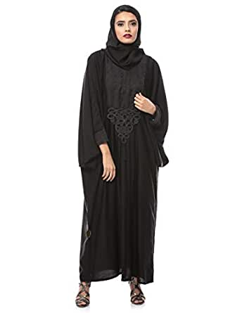Look Style LS15095c Abayas for Women, Black