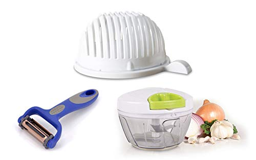 Kitchen Gadget Combo Set: Speedy Chopper, 3-in-1 Peeler, and Instant Salad Set by Unknown