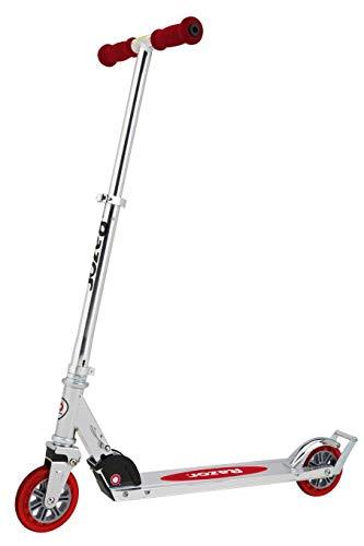 Amazon.com: Razor - Patinete plegable A3 (rojo) con casco ...