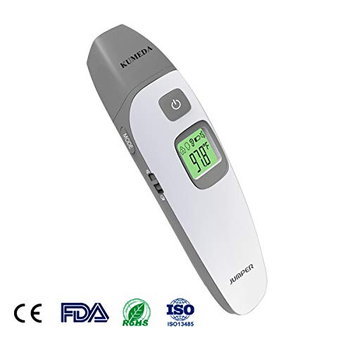 Baby Thermometer - Forehead and Ear Thermometer for Fever by KUMEDA - FDA and CE Approved Clinical Medical Digital Thermometer for Baby, Kids and Adults (No Touch)