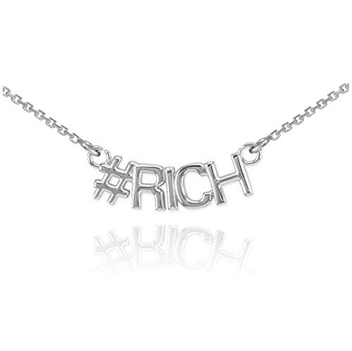 14 ct 585/1000 Or Blanc #RICH Collier