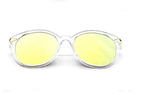 Transparent lifting GLSYJ flecha hombres de salvaje lady gold LSHGYJ big yurta de sol moda gafas sol Coreano box gafas 1nqzgTZ