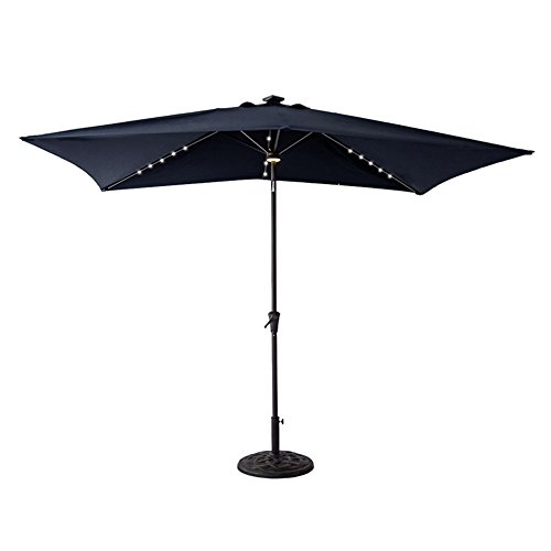 C Hopetree Solar LED Lights Outdoor Patio Umbrella, 6u00276 X 10u0027