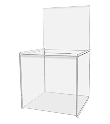 Marketing Holders Ballot Box Comment Suggestion Collection Contest Acrylic Cube 8