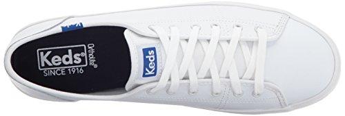 Keds Frauen Kickstart Leder Fashion Sneaker Weiß Blau
