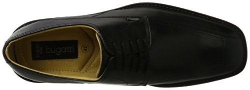 Nero Bugatti Schwarz 376051 Uomo Stringate Scarpe 1vYqaw4T
