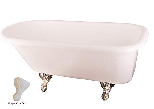 Barclay ATR60-WH-BQ 60 Inch Acrylic Bathtub with Bisque Ball and Claw Feet