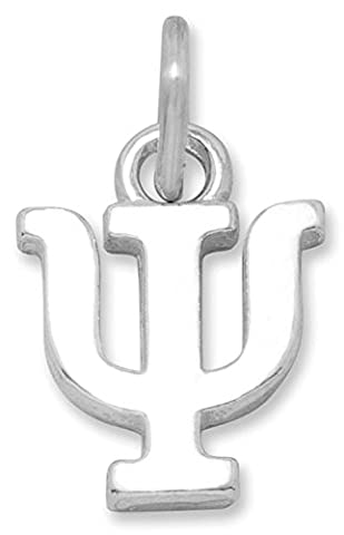 Sterling Silver Charm, 1/2 inch tall, Greek Letter Psi - Psi Charm