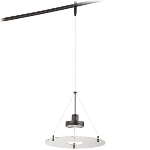 George Kovacs GKTH1406-CL-467, Lightrails Round Track Lighting Pendant LED, Sable