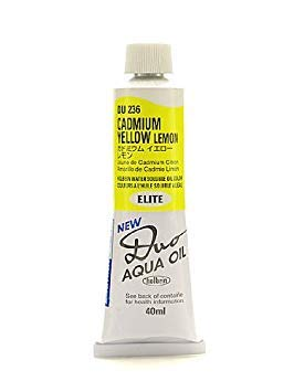 (Holbein Duo Aqua Artist Oil Color cadmium yellow lemon 40 ml)