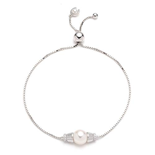 (Carolee Women's Bracelet Stone and Fresh Water Pearl Adjustable Bracelet)