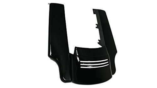 Bagger Brothers BB-HD1584-134 Black Fender Panel (Angled ABS Extension and Filler for 2014 - 2017 Harley Davidson Touring - Fender Bb