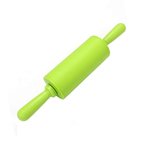 Non Stick Long Plastic Handle Silicone Rolling Pin Fondant Cake Baking -