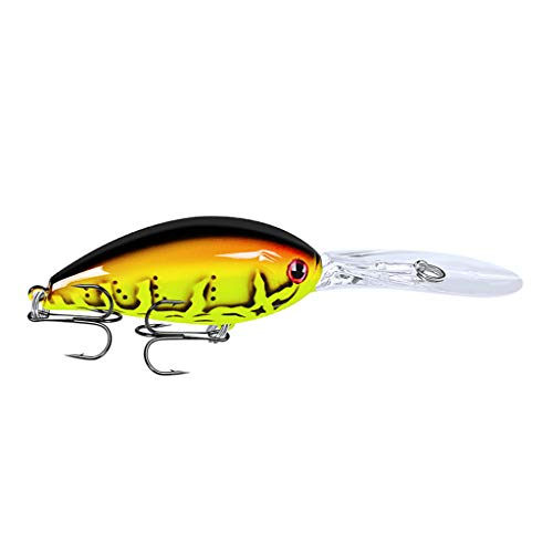 1PC Hard Bass Baits Fishing Lures Plastic Colors Minnow Lures for Trout Bass Perch Fishing (D)