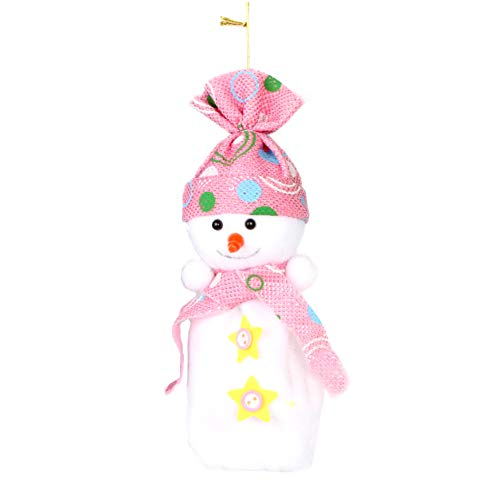 YaptheS Christmas Eve Cute Wrapping Snowman Shaped Candy Cookie Apple Bags Christmas Decoration Supplies-Pink Christmas Gift by YaptheS (Image #3)