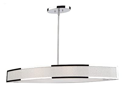 Artcraft Lighting Scarsdale Island Light, 13-Inch x 4-Inch, Chrome