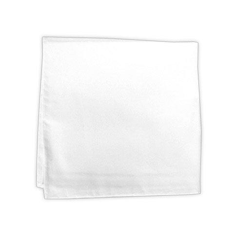 100% White Cotton Pocket Square - 13