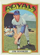 - 1972 Topps Regular (Baseball) card#742 Jim Rooker of the Kansas City Royals Grade Very Good
