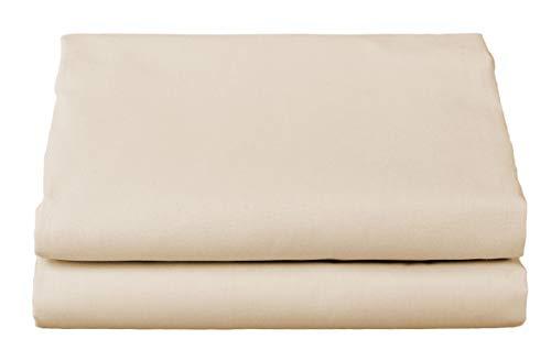(Thomaston Mills: Percale Sheet Set, Wrinkle Resistant, American Made, Durable, Crisp Fabric. (King, Bone))