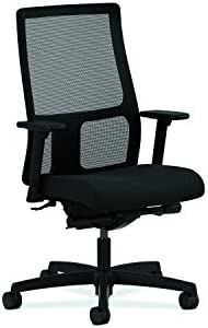 HON Ignition Series Mid-Back Work Chair – Mesh Computer Chair for Office Desk, Black HIWM3