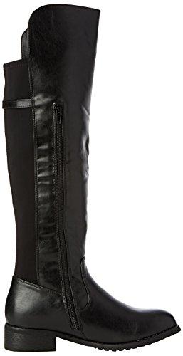 Dolcis Velma Botas de rodilla sintético para mujer negro - negro